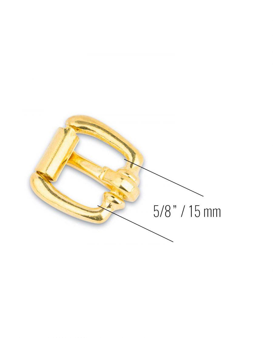 Small Brass Belt Buckle Roller 15 mm 3
