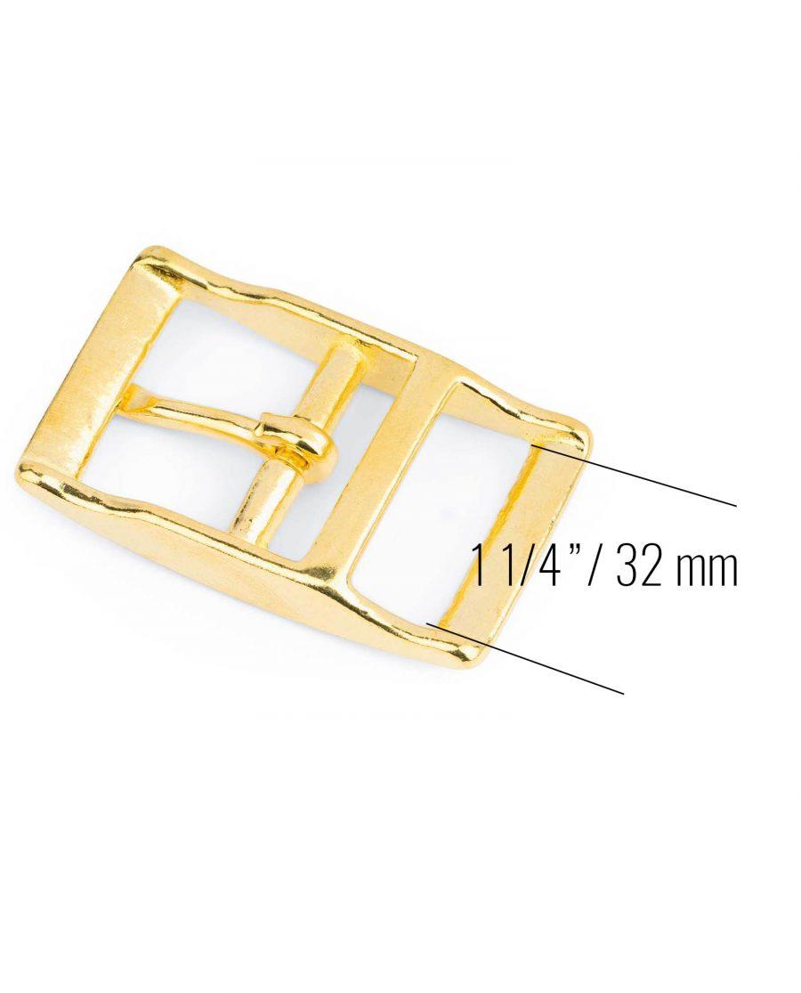 Solid Brass Belt Buckle Center Bar 32 Mm 3