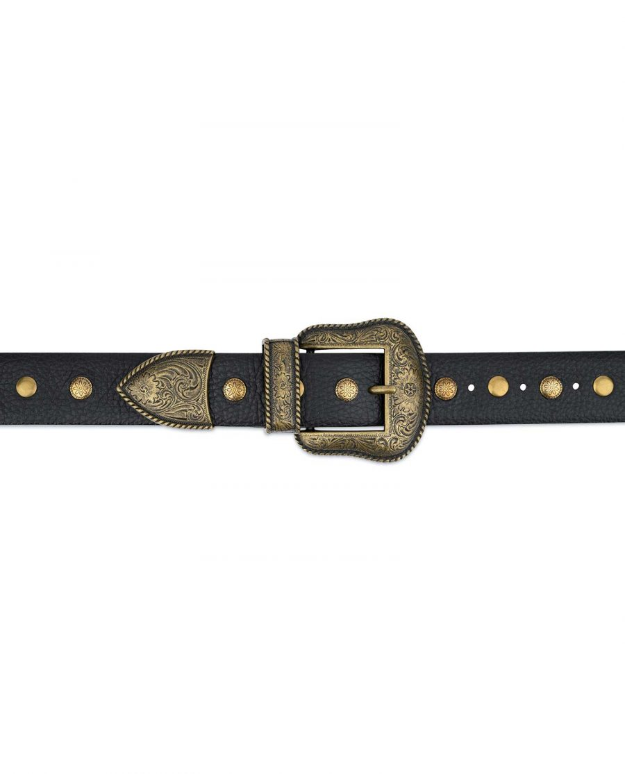 Studded Western Belt With Bronze Buckle 5