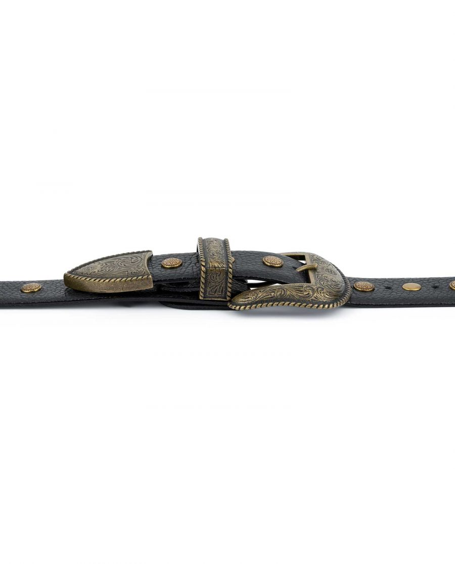 Studded Western Belt With Bronze Buckle 6