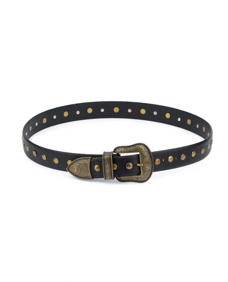 Studded Western Belt With Bronze Buckle 8