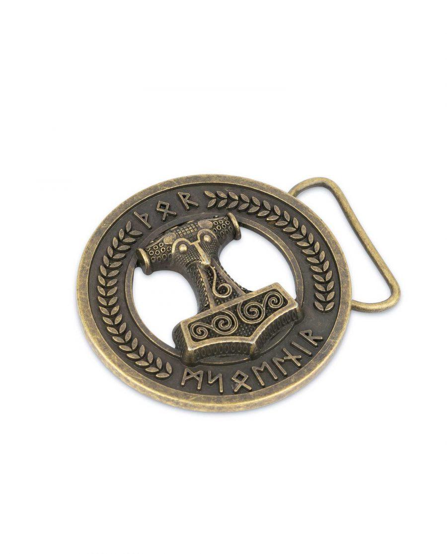 Viking Belt Buckle Bronze Norse Thors Hammer 1