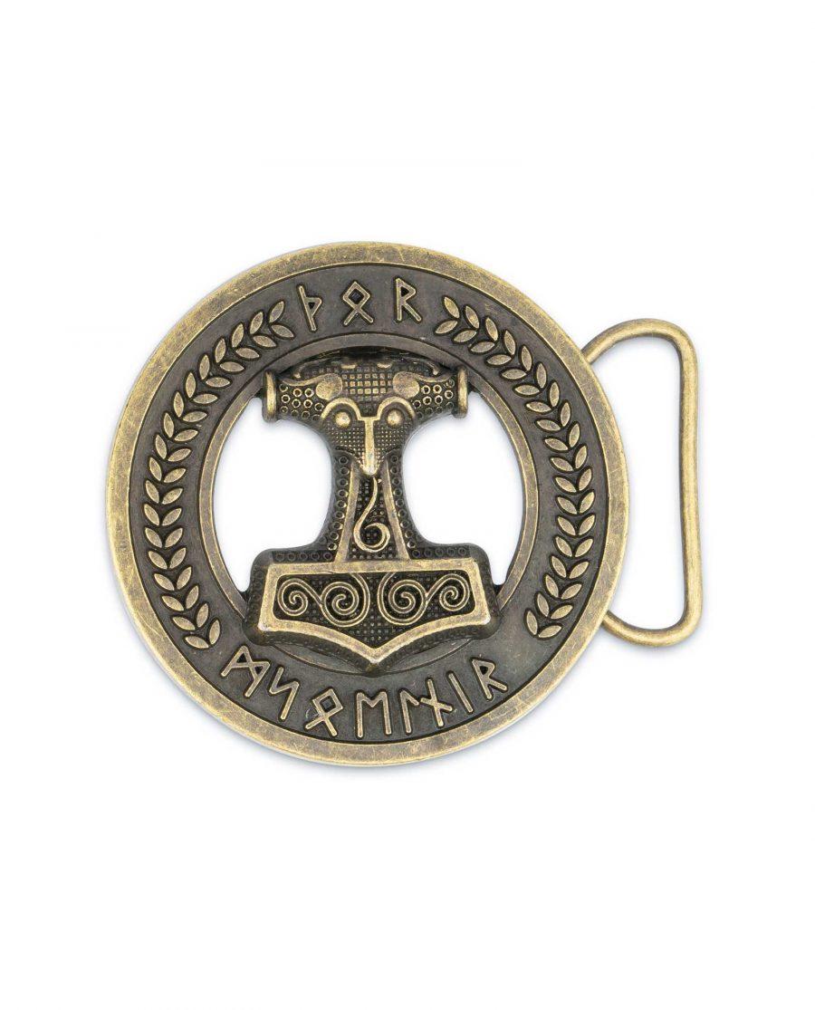 Viking Belt Buckle Bronze Norse Thors Hammer 5