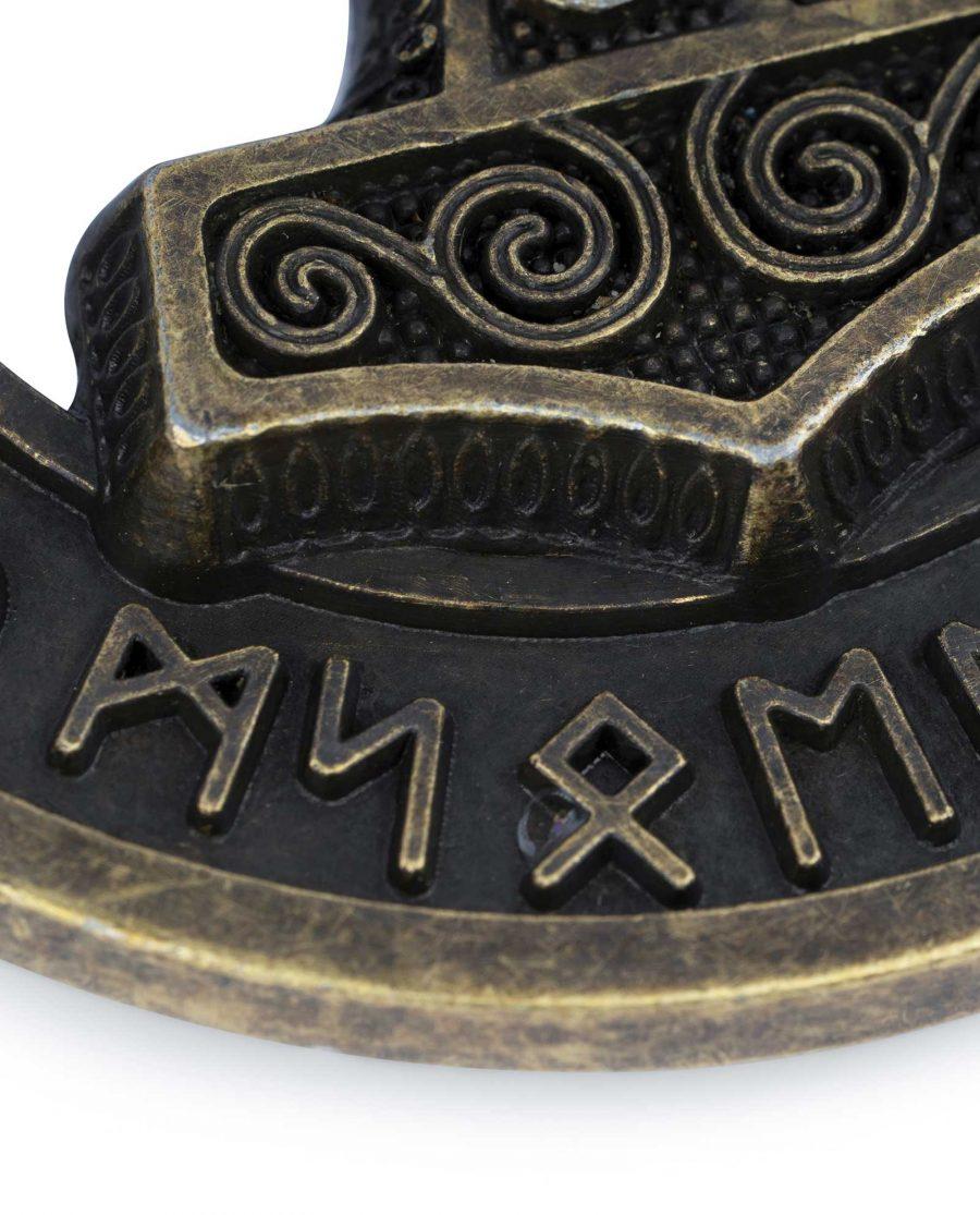 Viking Belt Buckle Bronze Norse Thors Hammer 6