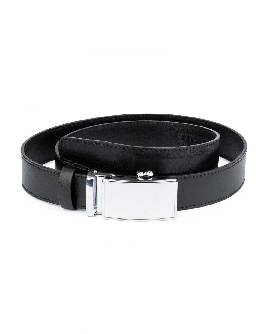 White Buckle Belt Without Holes 1