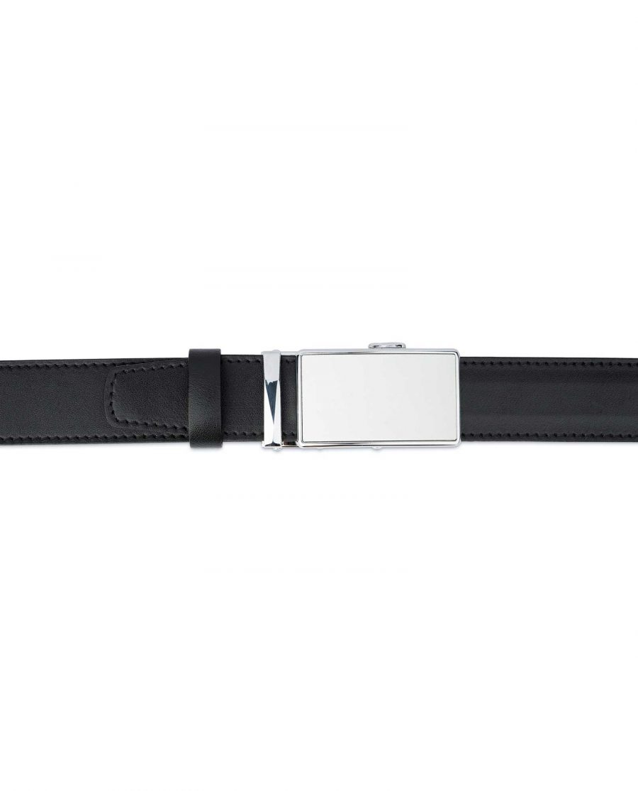 White Buckle Belt Without Holes 2