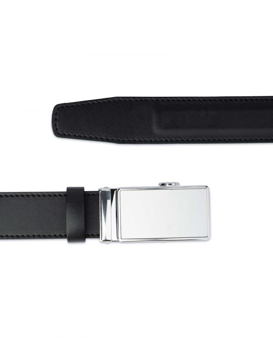 White Buckle Belt Without Holes 3