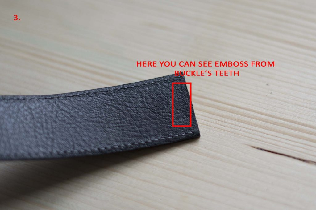 3 How To Attach a Belt Buckle to a Leather Belt Teeth emboss