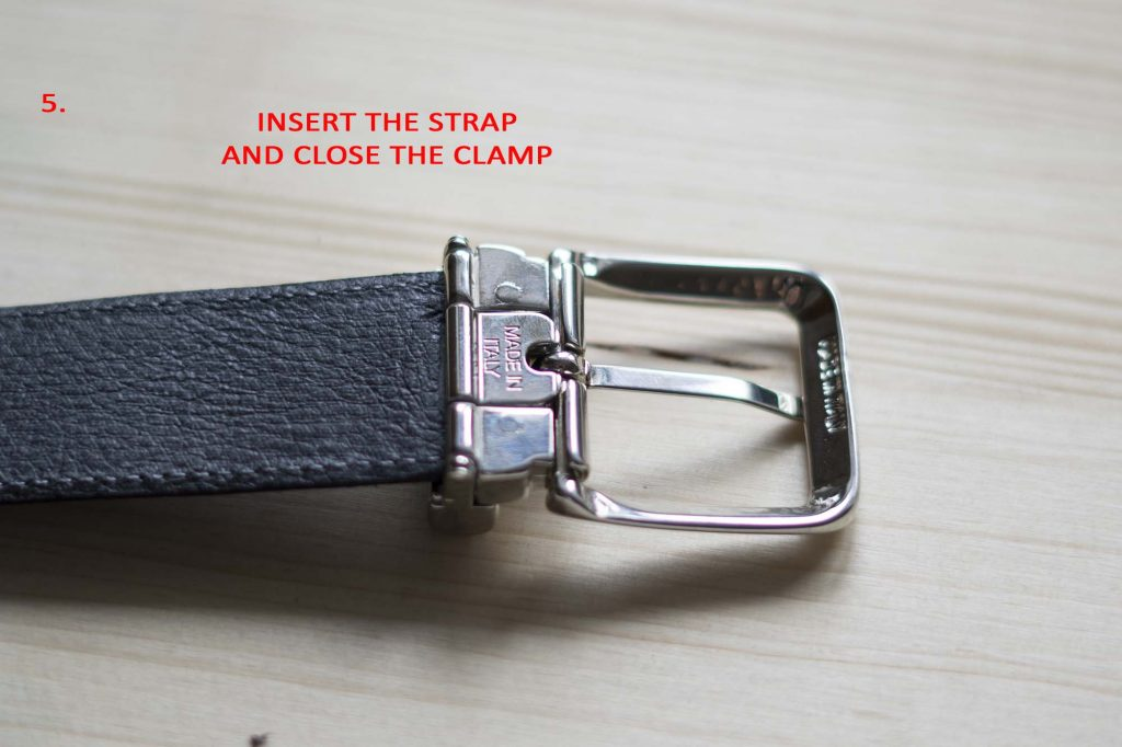 5 How To Attach a Belt Buckle to a Leather Belt Close clamp