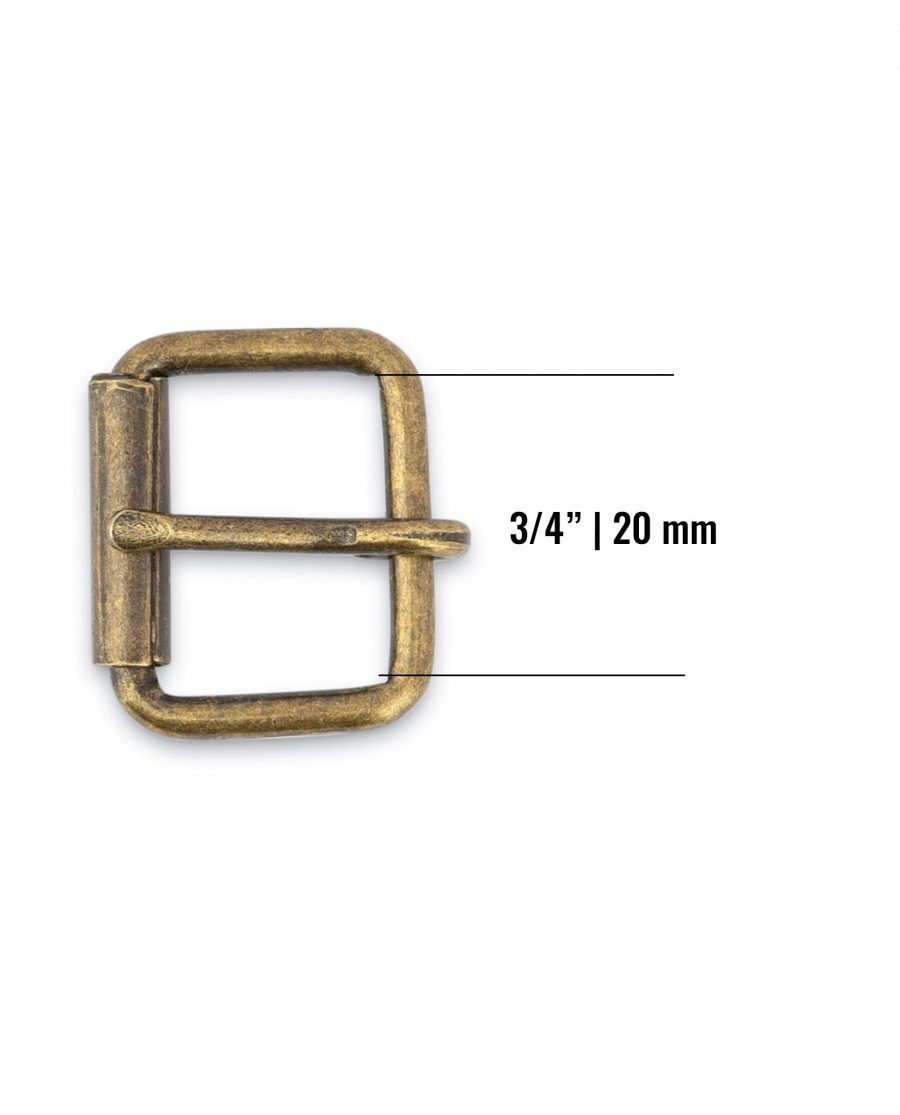 Antique Brass Belt Buckle 20 Mm Size 1