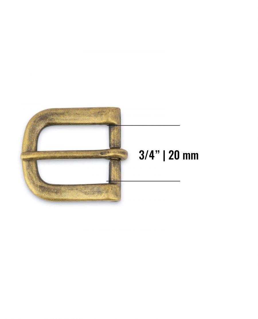 Antique Brass Belt Buckle 20 Mm Size