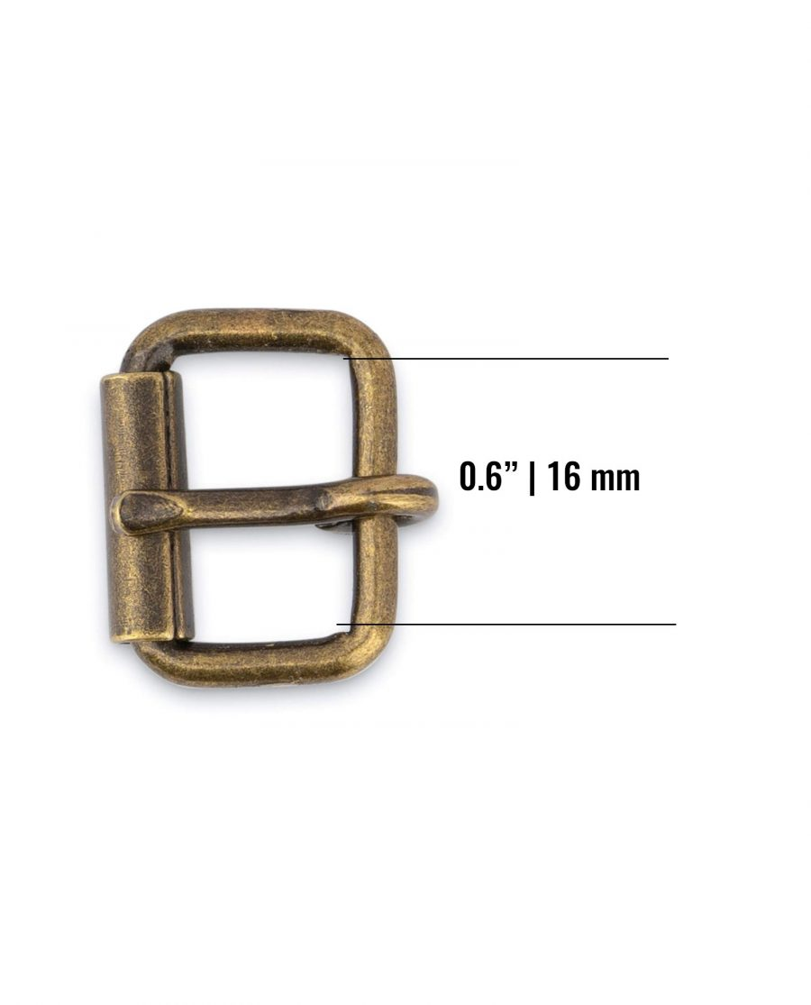 Antique Brass Roller Belt Buckle 16 Mm Size