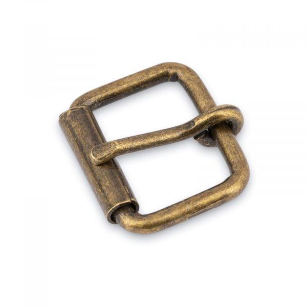 Antique Brass Roller Belt Buckle 20 Mm 1