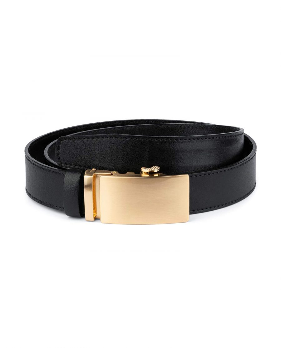 Automatic Gold Buckle Black Belt 1