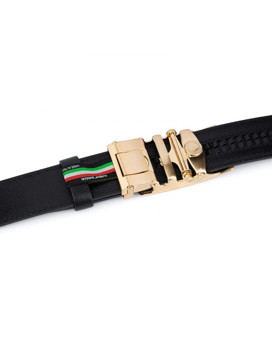 Automatic Gold Buckle Black Belt 4