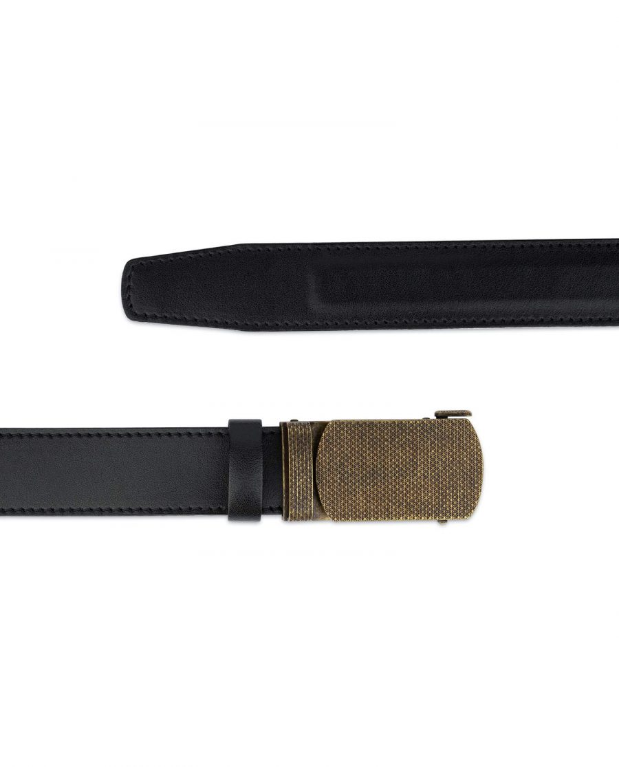 Black Automatic Belt With Bronze Buckle 2