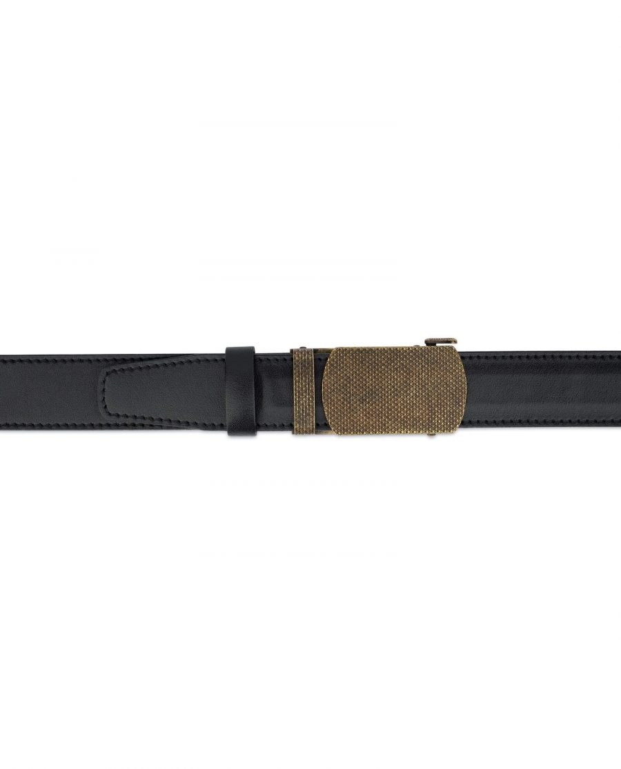 Black Automatic Belt With Bronze Buckle 3