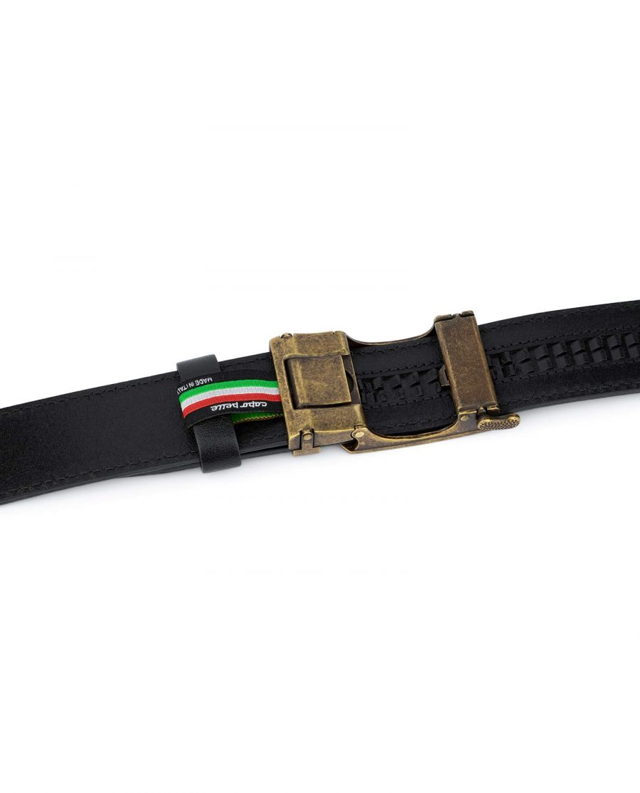 Black Automatic Belt With Bronze Buckle 4