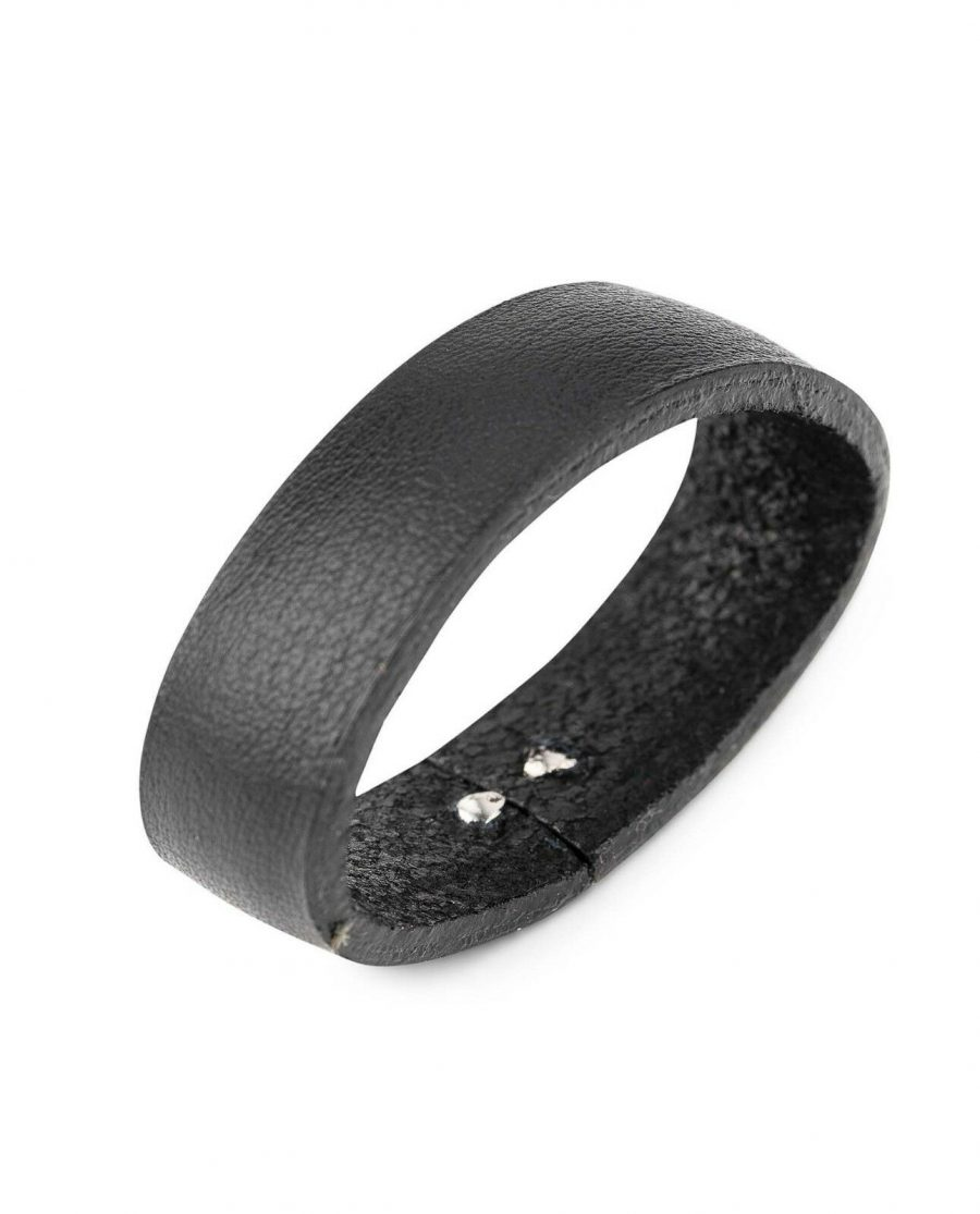 Black Leather Belt Loops Replacement 35 mm 3