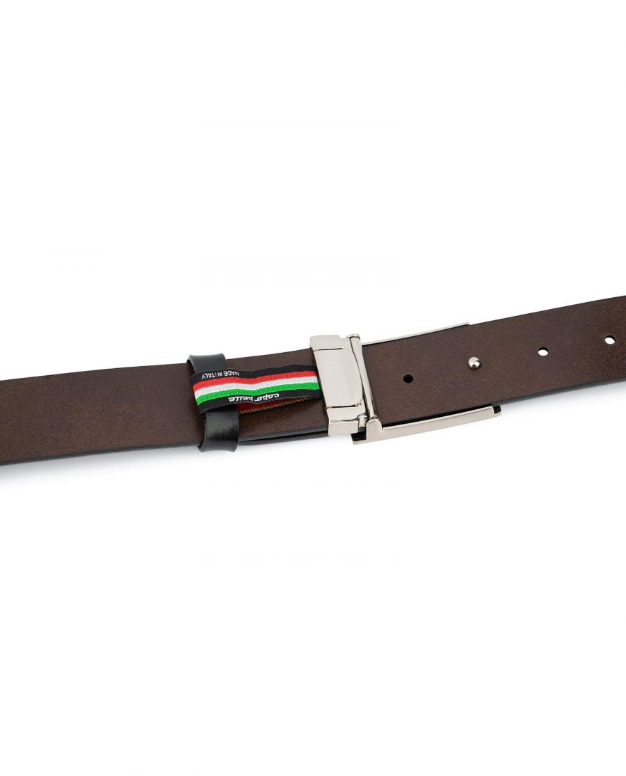 Black Leather Belt With Blank Engravable Buckle 5