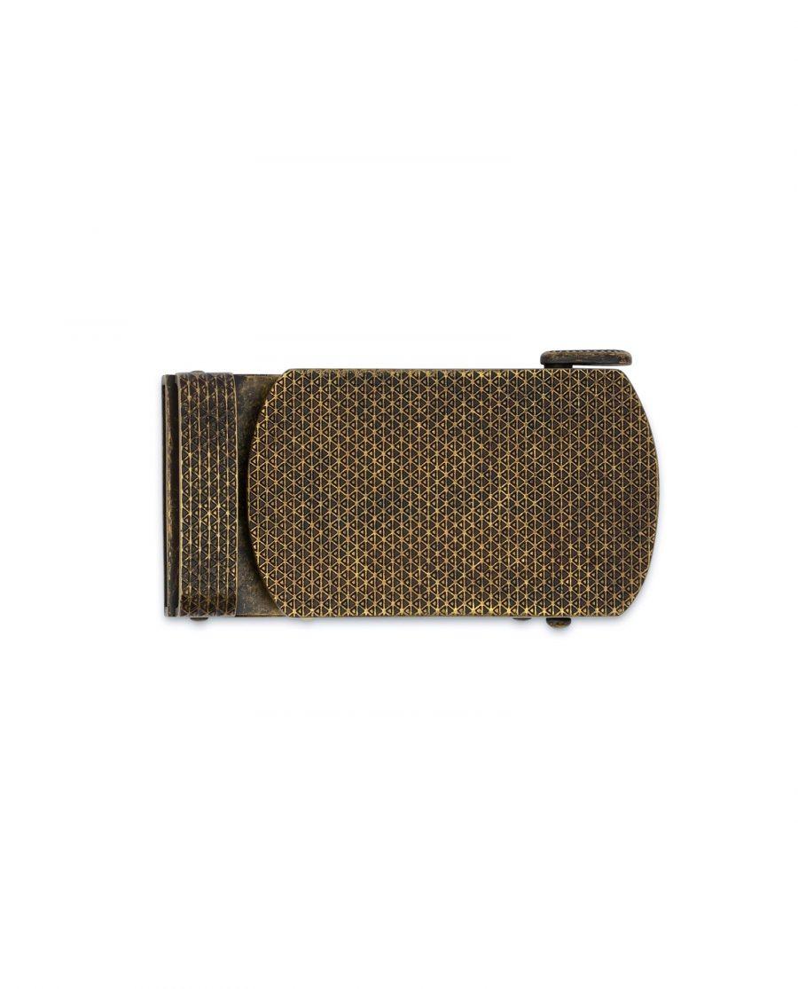 Bronze Ratchet Belt Buckle 3