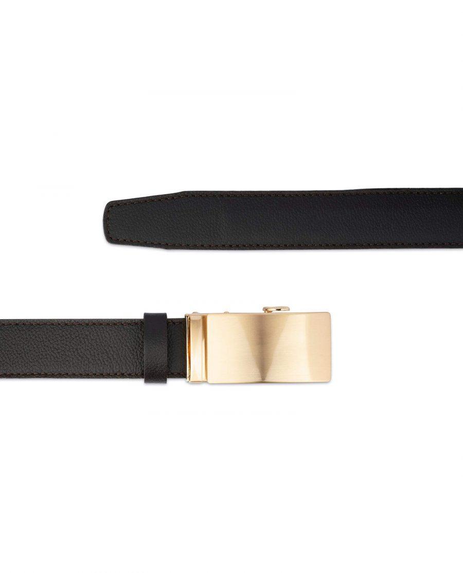 Brown Comfort Click Belt Gold Buckle 2