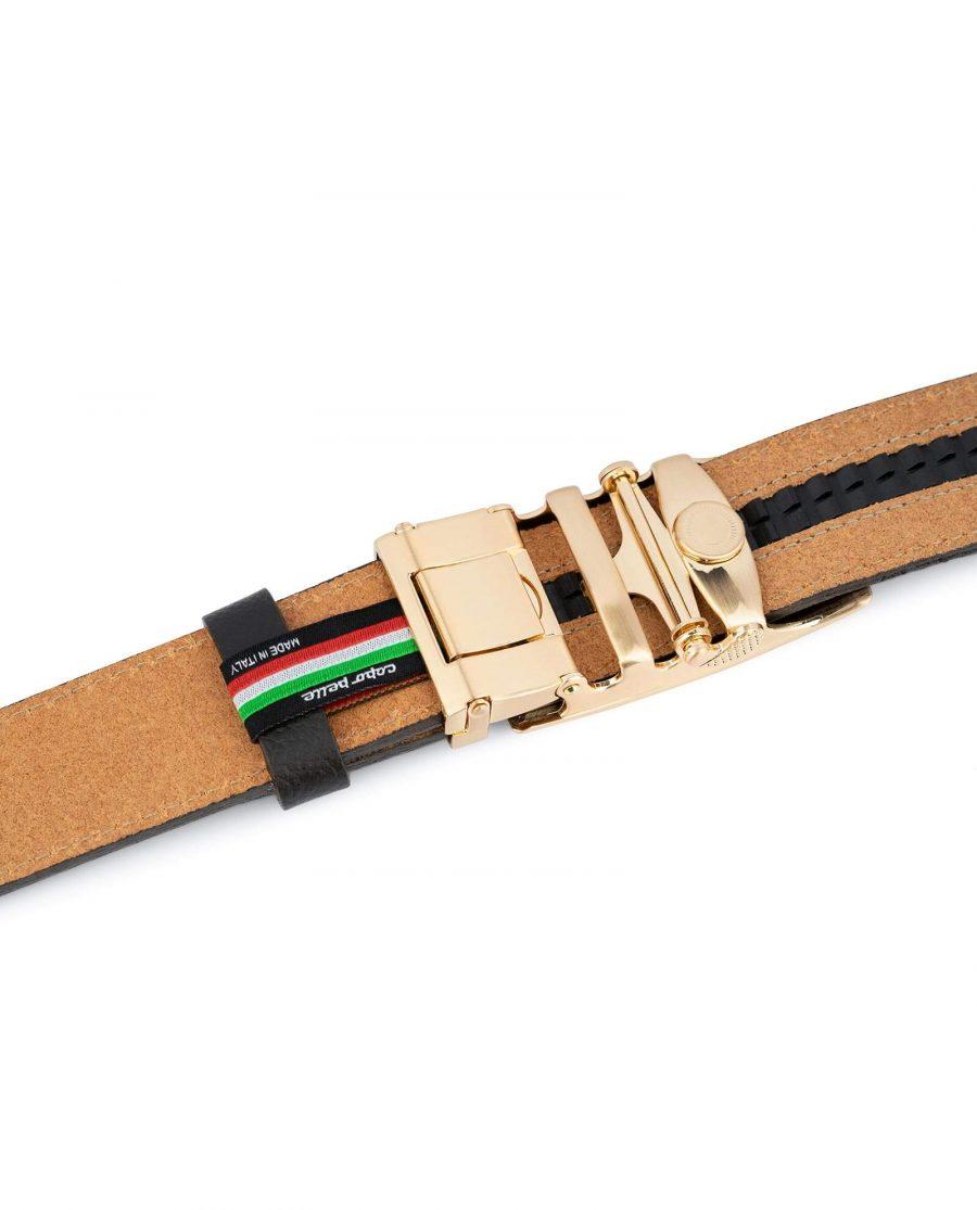 Brown Comfort Click Belt Gold Buckle 4
