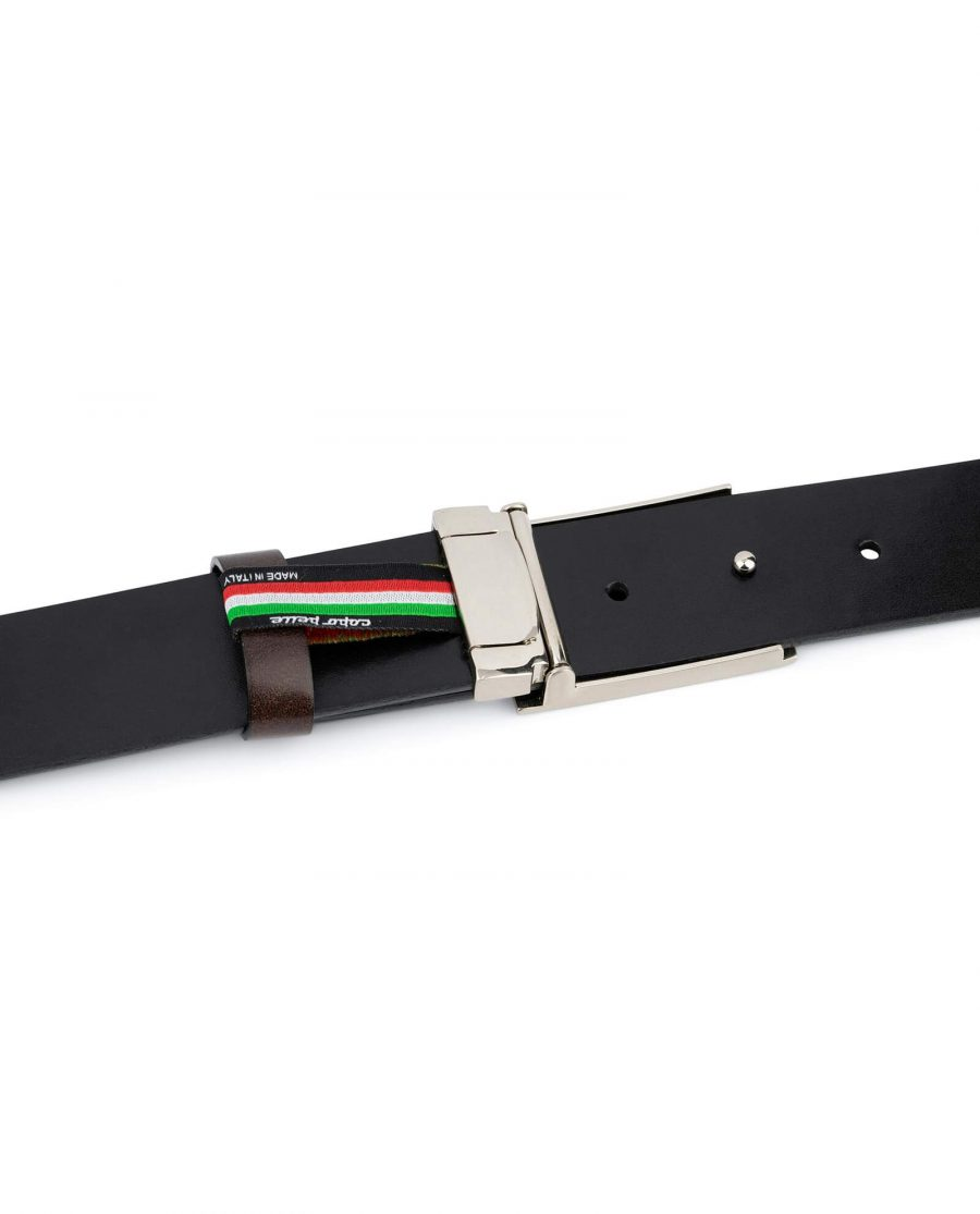 Brown Leather Belt With Blank Engravable Buckle 4