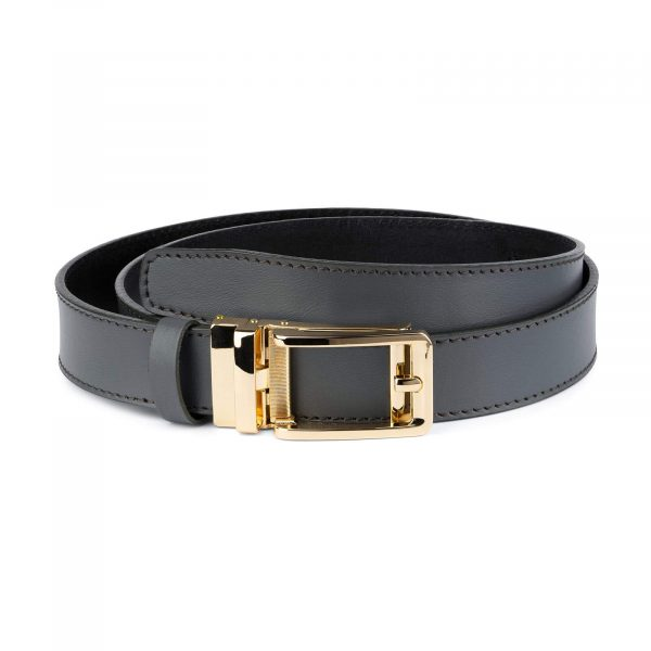 Gray Automatic Golden Buckle Belt 1