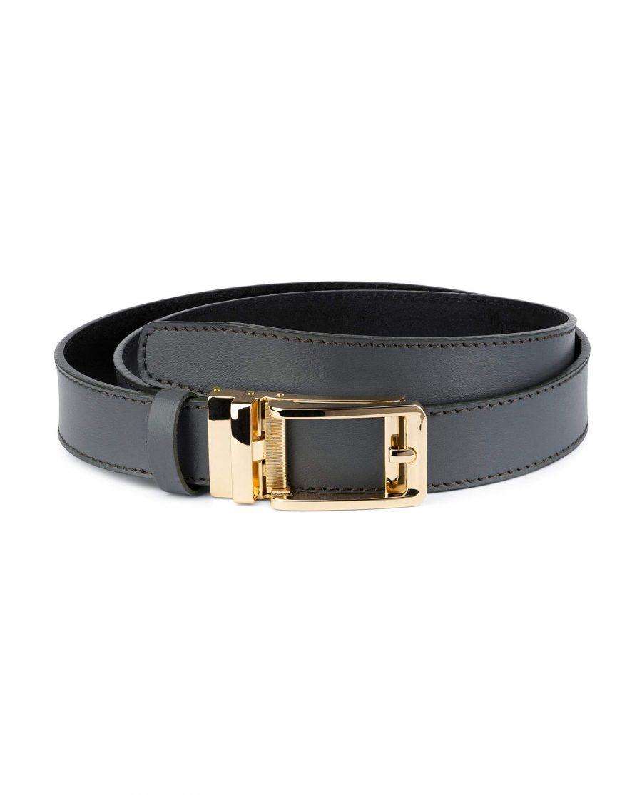 Gray Automatic Golden Buckle Belt 1