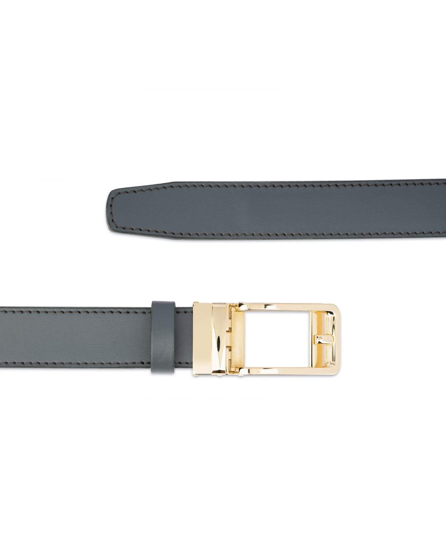 Gray Automatic Golden Buckle Belt 2