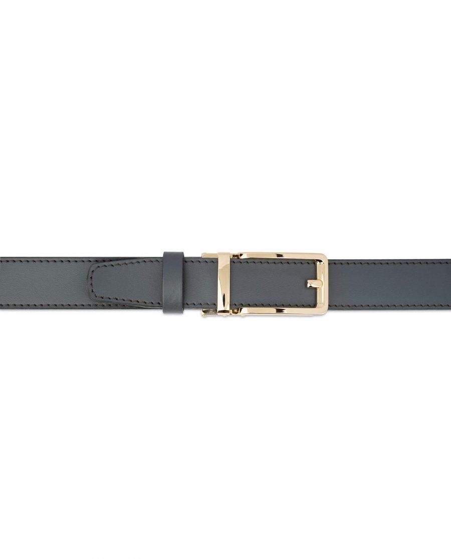 Gray Automatic Golden Buckle Belt 3