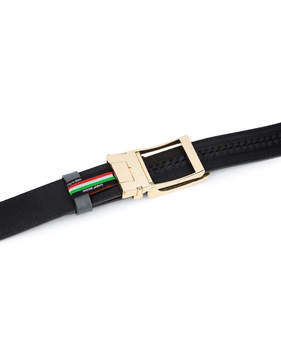 Gray Automatic Golden Buckle Belt 5