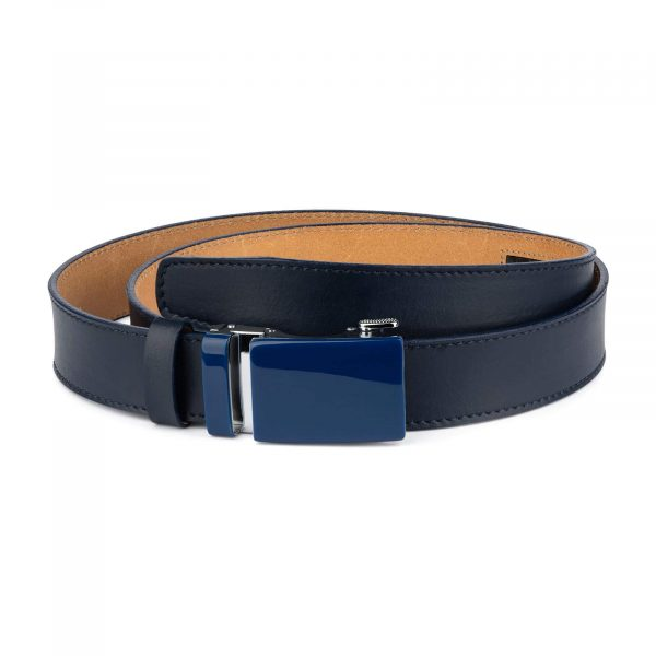 Navy Mens Click Belt With Blue Buckle 1