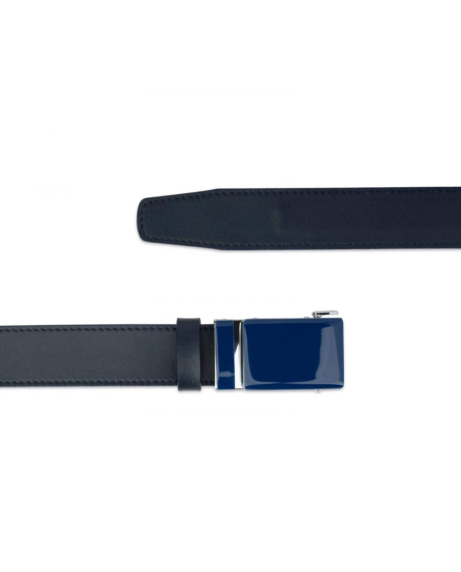 Navy Mens Click Belt With Blue Buckle 2