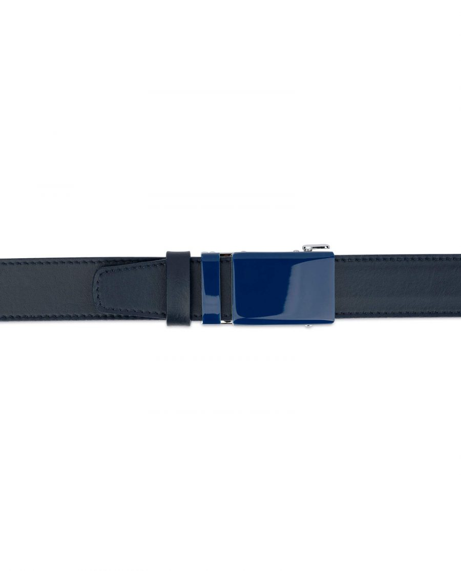 Navy Mens Click Belt With Blue Buckle 3