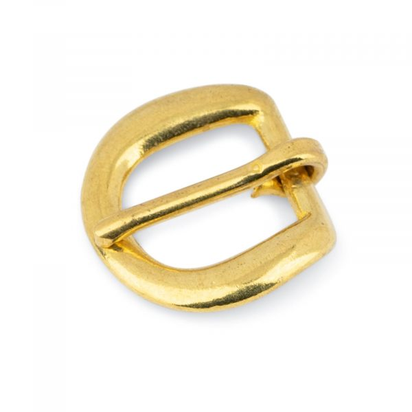 Rounded Corner Small Brass Belt Buckle 15 mm 1