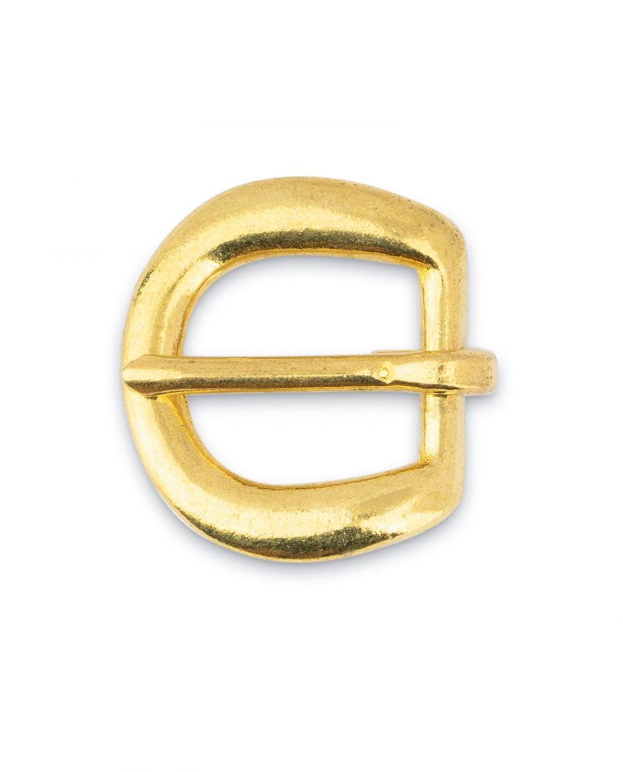 Rounded Corner Small Brass Belt Buckle 15 mm 3