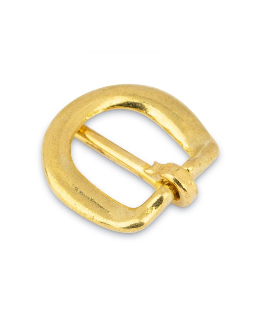Rounded Corner Small Brass Belt Buckle 15 mm 4