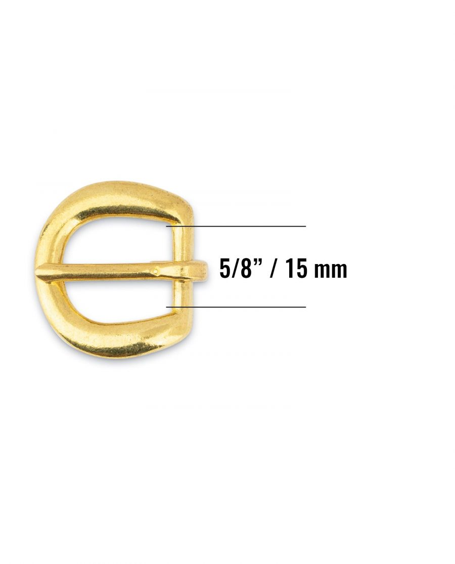 Rounded Corner Small Brass Belt Buckle 15 mm Size