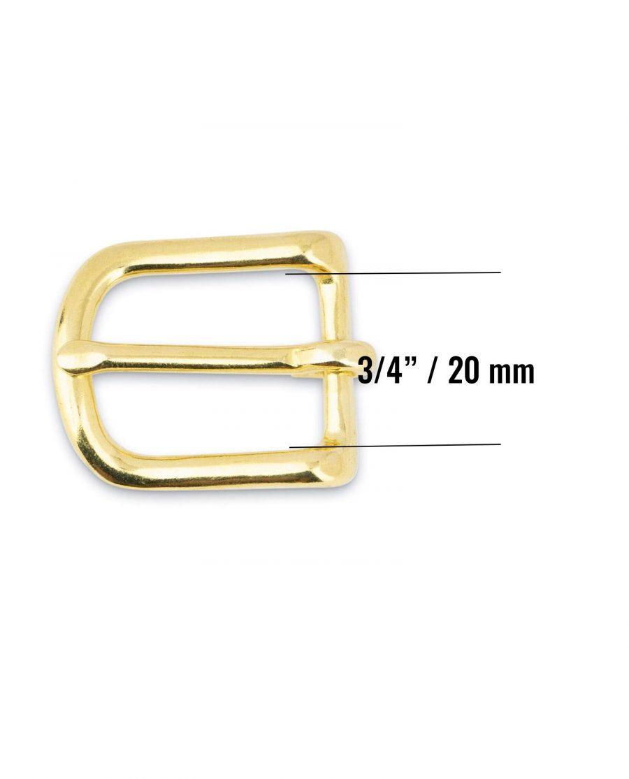 Small Brass Belt Buckle 20 mm Size