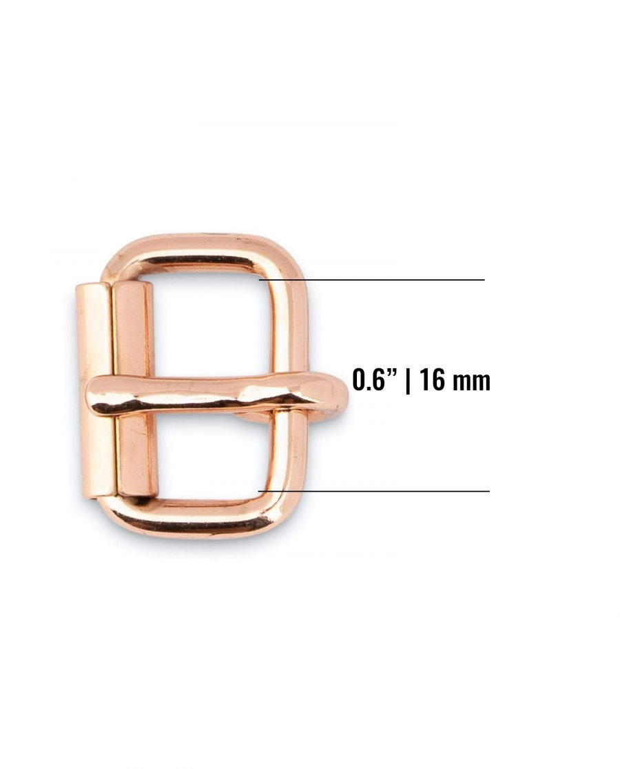 Small Rose Gold Roller Buckle 16 Mm Size
