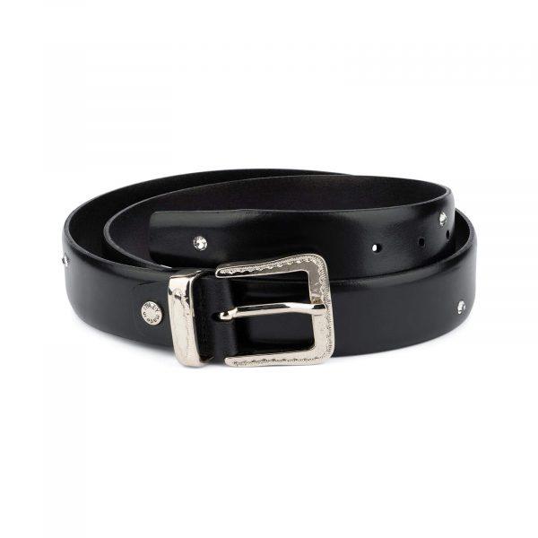Swarovski Crystal Belt Mens Black 35 Mm 1