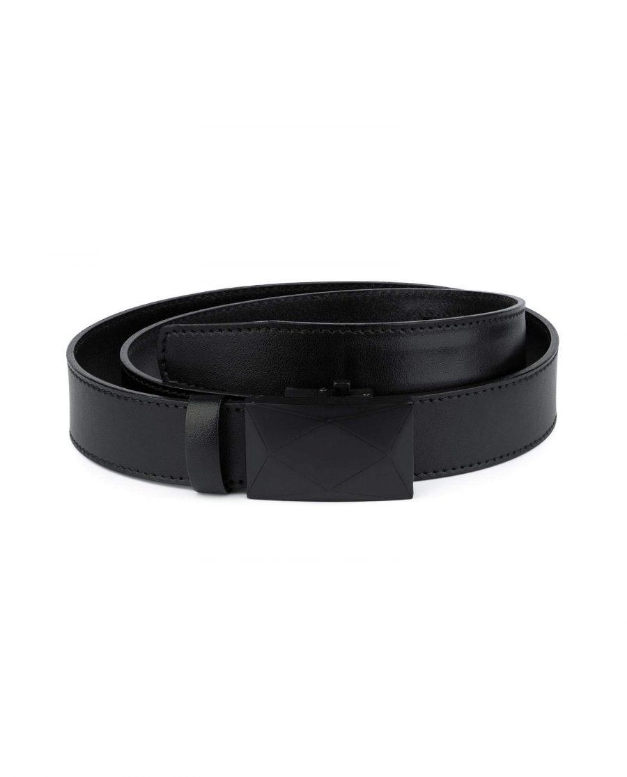 Unique Black Hole Less Belt For Men 1