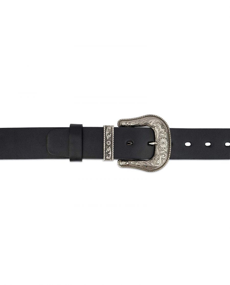Western Full Grain Leather Belt Wide Thick 2