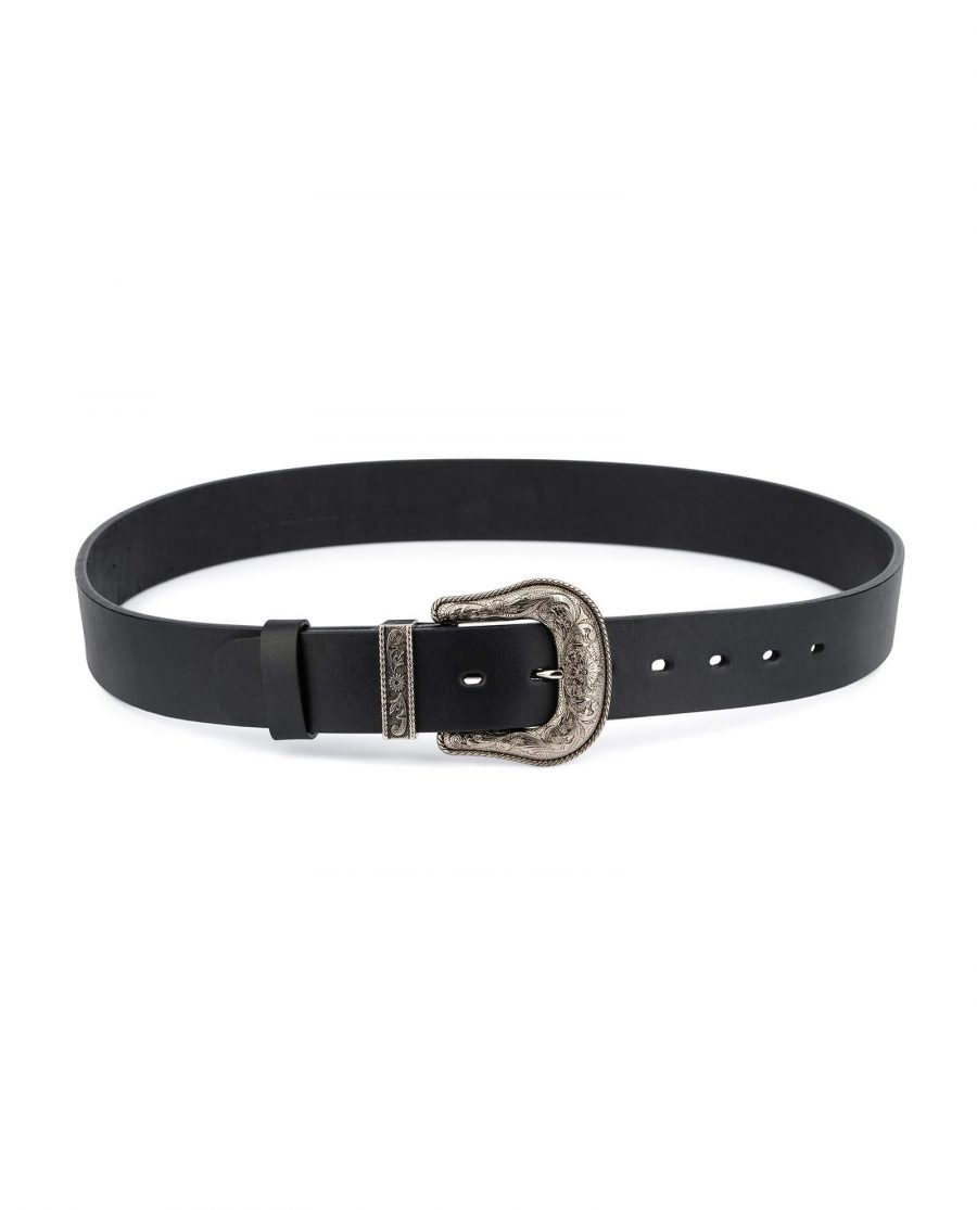 Western Full Grain Leather Belt Wide Thick 4