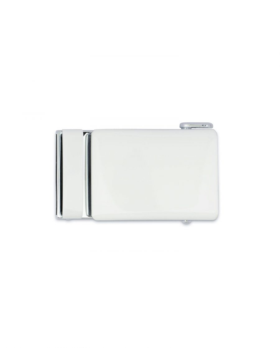 White Automatic Belt Buckle 3