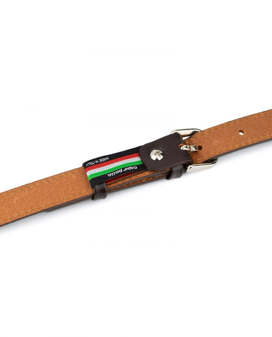 Womens Brown Leather Belt Thin 2 0 Cm 4