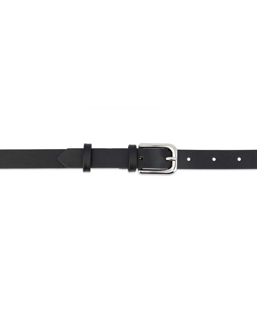 Womens Leather Belt Black Thin 2 0 Cm 2