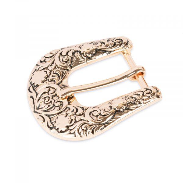 Cowgirl rose gold belt buckle WEST25ROGD 1